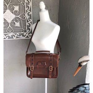 Vintage style crossbody satchel